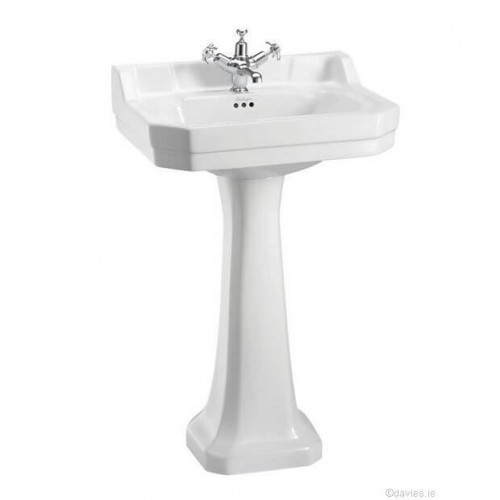 Burlington Edwardian 56cm 1th Pedestal Basin