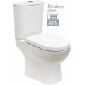 Verona Close Coupled RIMLESS Toilet and Soft Close Seat